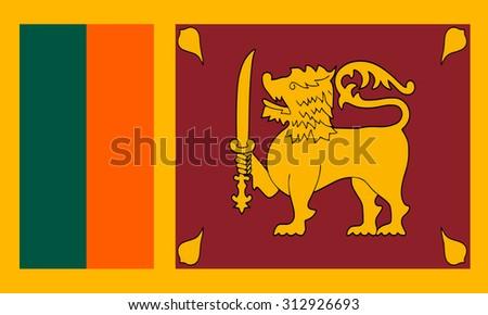flag of Sri lanka vector - stock vector