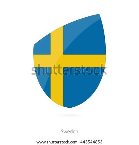 Flag of Sweden. Sweden Rugby flag. Vector Illustration. - stock vector