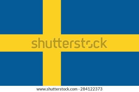 Flag of Sweden. Vector. - stock vector