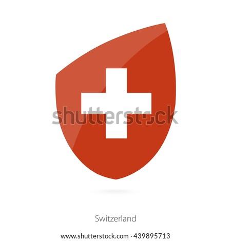 Flag of Switzerland. Switzerland Rugby flag. Vector Illustration. - stock vector