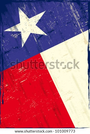 Flag of texas The flag of Texas with a texture for you. Enjoy ! - stock vector