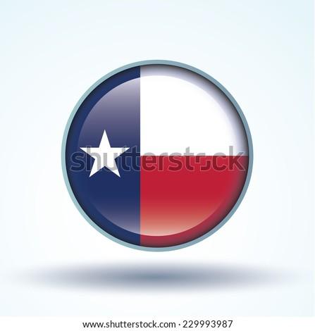 Flag of Texas, vector illustration - stock vector