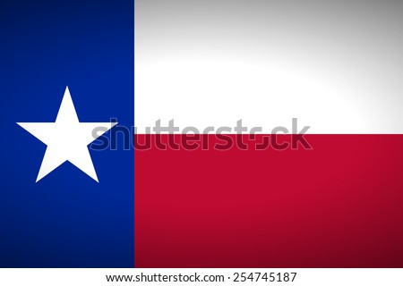 Flag of Texas. Vector illustration. - stock vector