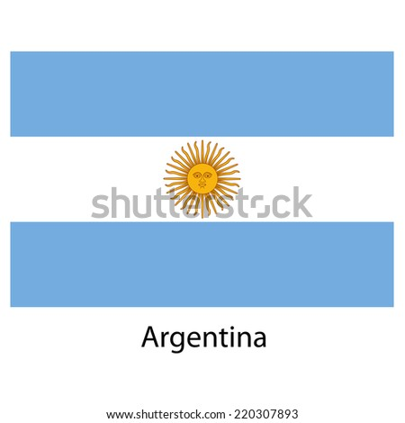 Flag  of the country argentina. Vector illustration.  Exact colors.  - stock vector
