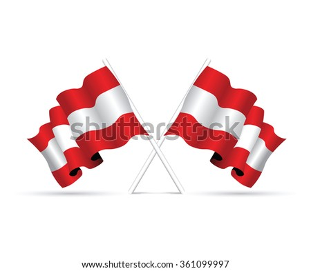 Flag of the country Austria - stock vector