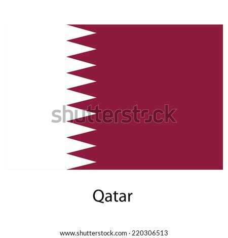 Flag  of the country  qatar. Vector illustration.  Exact colors.  - stock vector
