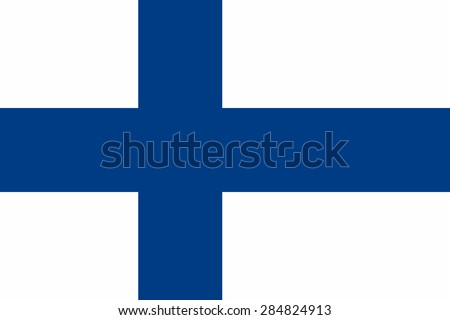 Flag of the Finland. - stock vector