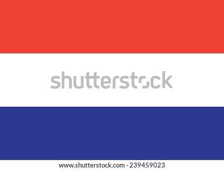 flag of the Netherlands - stock vector