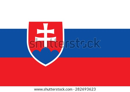 Flag of the Slovak Republic. Official state symbol. Correct shapes, colors and sizes. Symbol of Slovakia for political images. - stock vector