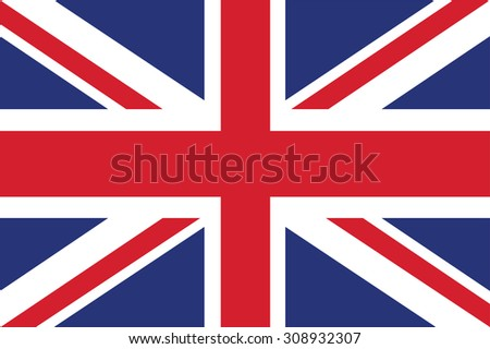 Flag of the United Kingdom. Vector illustration.