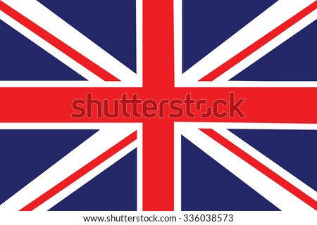 Flag of the United Kingdom. Vector illustration. - stock vector