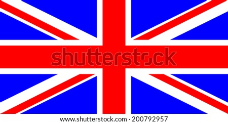 Flag of the United Kingdom. Vector illustration. Very bright colors. - stock vector