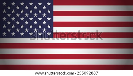 Flag of USA with color gradient - stock vector