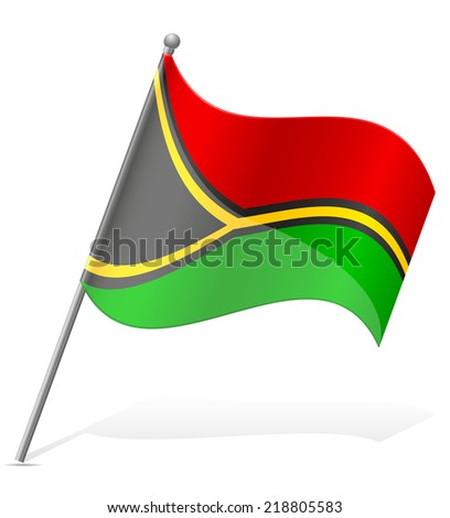 flag of Vanuatu vector illustration isolated on white background - stock vector