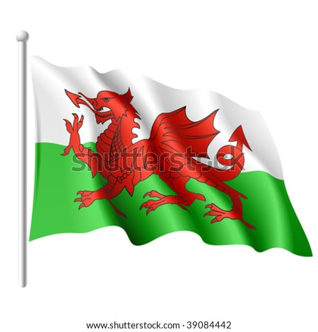 Flag of Wales. Vector illustration. - stock vector