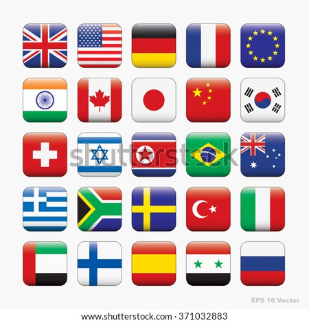 Flag of world, Vector icons  - stock vector