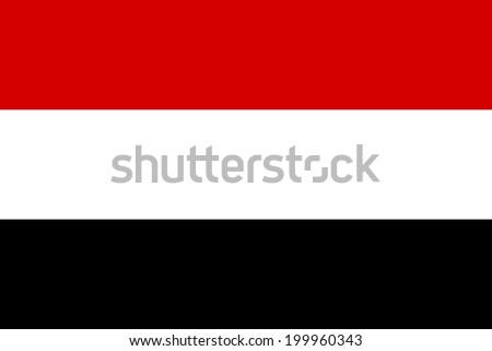 Flag of Yemen. Vector illustration. - stock vector