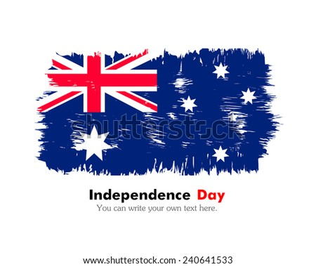 Flag painted with a brush. Flag of Australia - stock vector