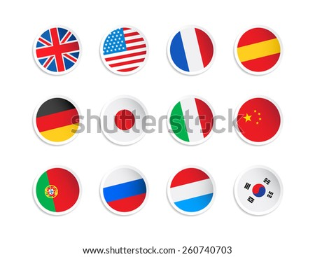 Flag Stickers - stock vector