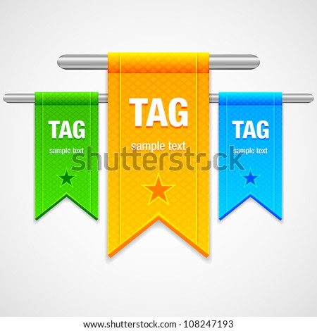 Flag Tag Illustration - stock vector