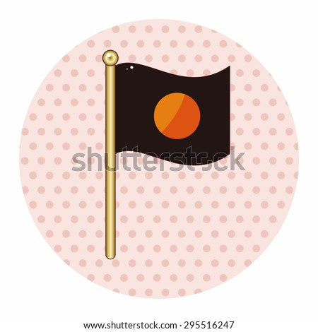 flag theme elements - stock vector