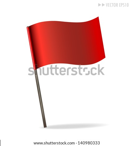 Flag. Vector illustration. - stock vector