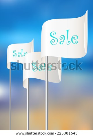 Flags for sales actions - stock vector