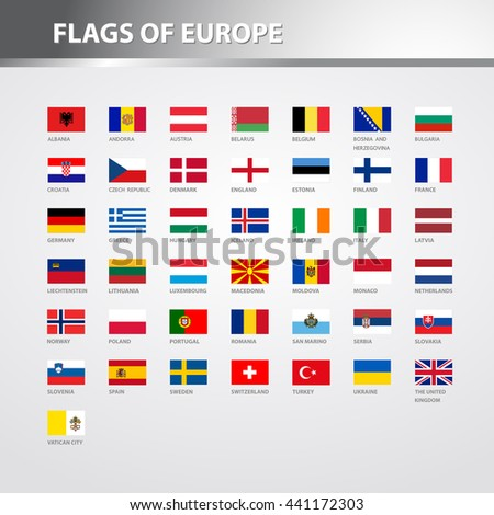 Flags of Europe - stock vector