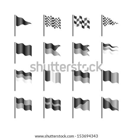 Flags template. Vector. - stock vector
