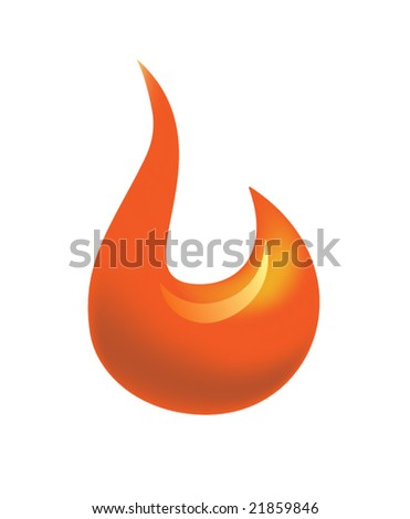 Flame icon - stock vector