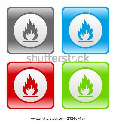 Flames icon - stock vector