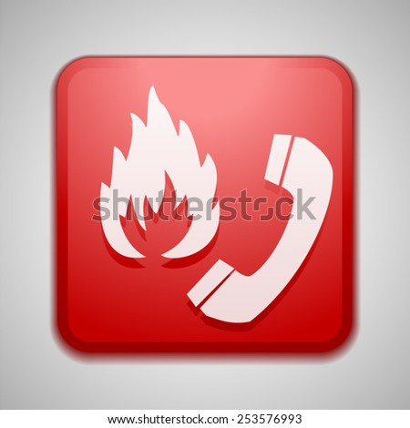 Flammable call sign - stock vector