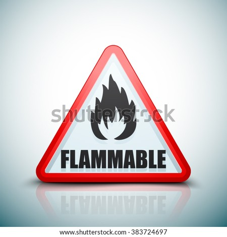 Flammable danger sign - stock vector