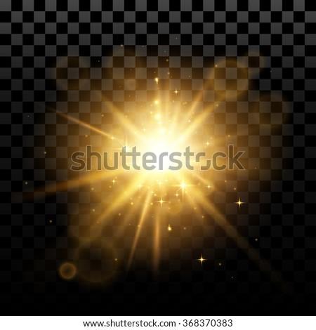 Flash effect - stock vector