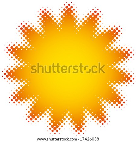 flash flower (dots design series) - stock vector