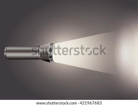flash light icon design  - stock vector