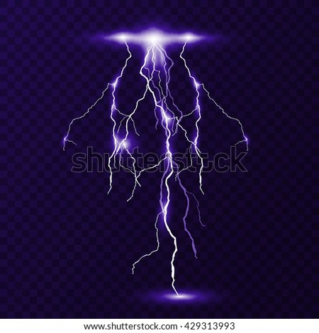 Flash of lightning - stock vector