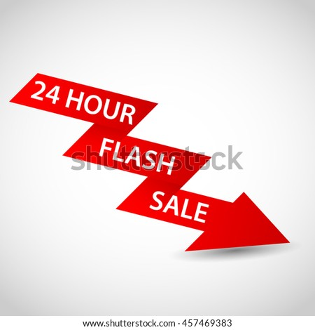 Flash with sale - stock vector
