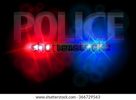 Flashing lights of police, a bright flash, for your ideas, vector illustration, eps 10 - stock vector