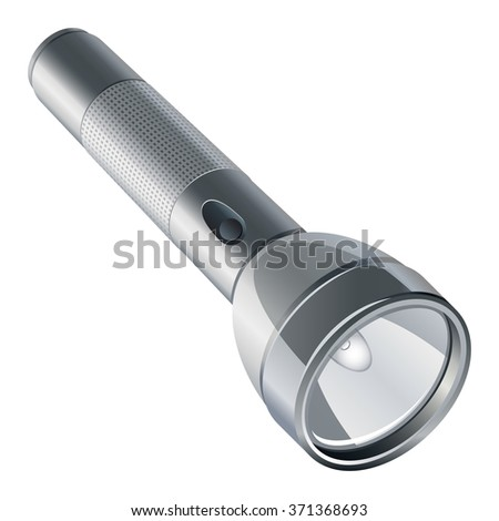 flashlight isolated on white background - stock vector