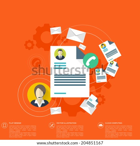Flat blank, worksheet icon. Contact, social network concept. Web site tree,map. Global communication, chat. - stock vector