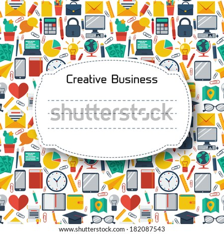 Flat Business Background. Colorful template for you design, web and mobile applications.  - stock vector