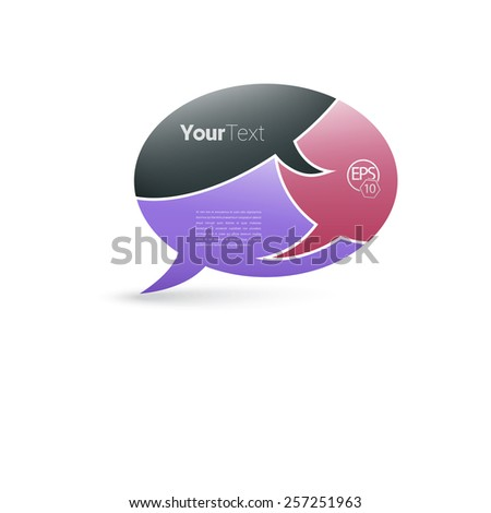 Flat Cartoon Style Bubble Speech Composition for Your Layout - stock vector