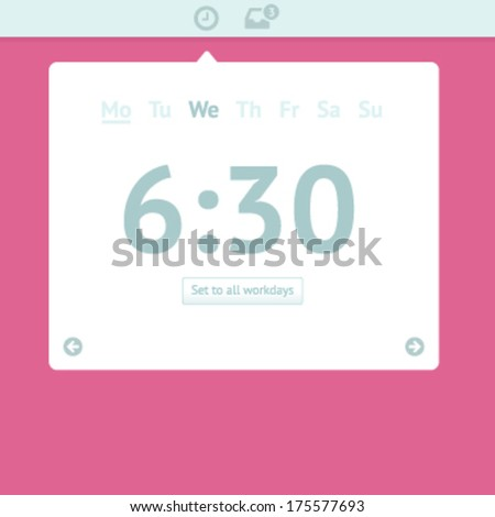 Flat colorful calender and meeting icon - stock vector