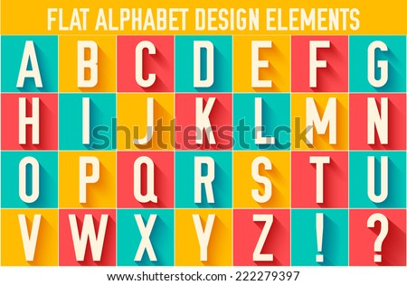 flat colorful letter of the alphabet vector illustration design concept background - stock vector