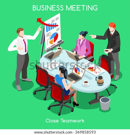 Flat 3d isometric Startup concept web infographics vector bright colorful illustration. Creative people collection. Research report team business planning Jpg Eps 10 Jpeg Icon Set Collection - stock vector