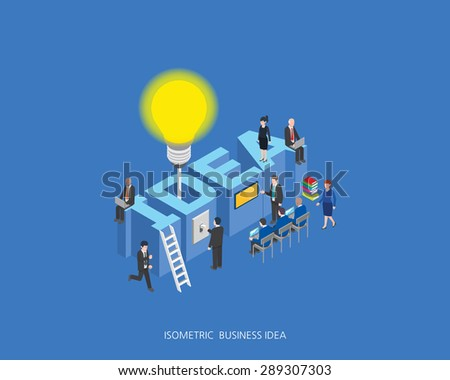 Flat 3d isometric vector illustration idea concept design, Abstract urban modern style, high quality business series. - stock vector