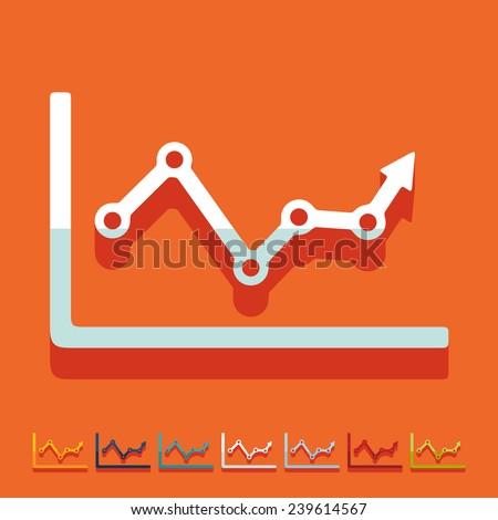 Flat design: chart - stock vector