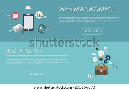 Flat design concepts for business, finance, strategic management, investment, natural resources, consulting, teamwork, great idea. Concepts for web banners and promotional materials.  - stock vector