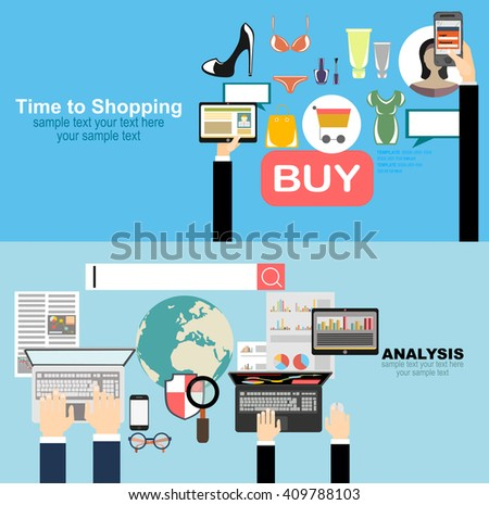 Flat design illustration concepts for business analysis and planning, consulting, team work, project management, brainstorming,Money . Concepts web banner and printed - stock vector